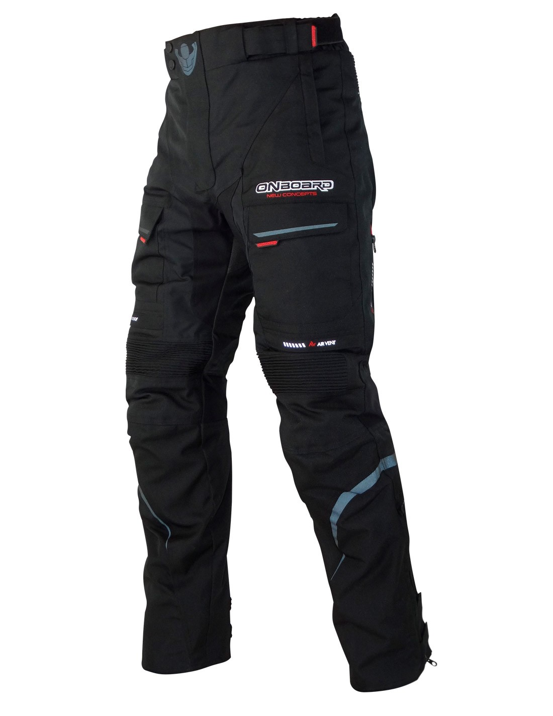 Pantalon De Moto En Cordura 100 Impermeable On Board Cruise Negro