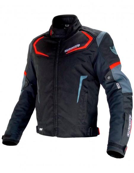 Chaqueta moto onboard  DYNAMIC Negra/Gris/Roja