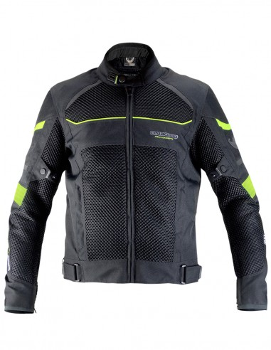 3D-AIR summer jacket Black/Fluo Yellow