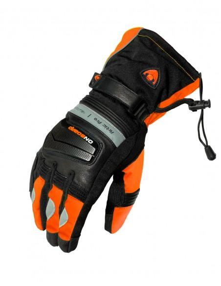Guantes moto Invierno ARTIC PRO Negro/Naranja Fluor. Guantes Homologados