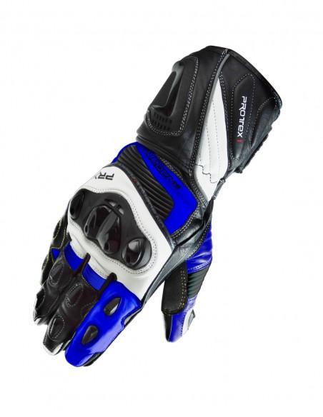 Guantes moto PRX1 Negro/Blanco/Azul. Guantes moto circuito