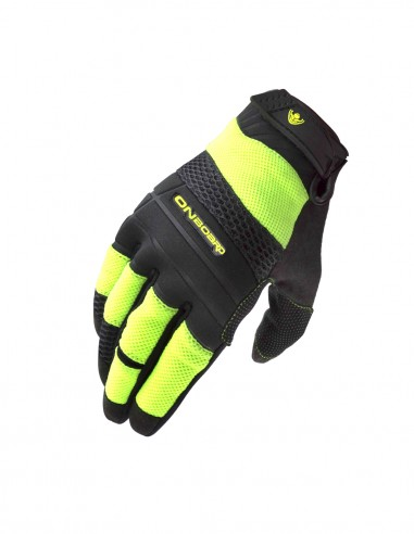 Guantes moto Verano ON AIR negro/amarillo fluor