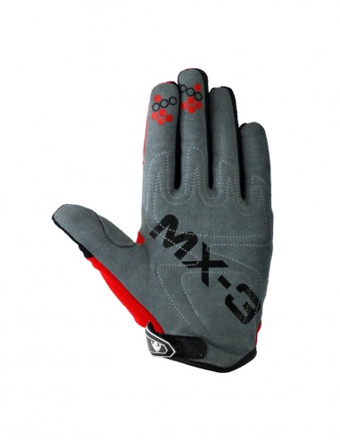 Guantes cross MX3 Rojo/Blanco/Negro