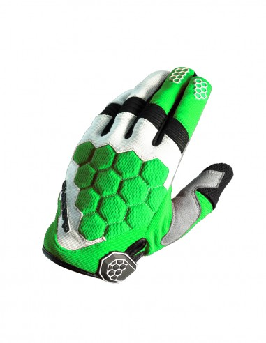 Guantes cross MX3 Verde/Blanco/Negro