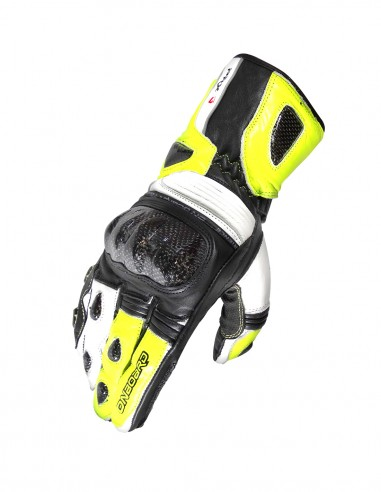 PRX-3 Racing Carbon gloves White-Fluo...