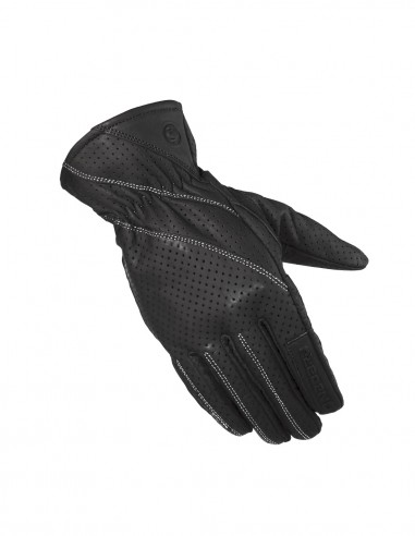 Guantes piel agujeros FRESH mujer negros