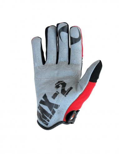 MX2 black and red mx gloves