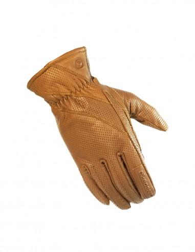 Guantes piel agujeros FRESH men marrón claro