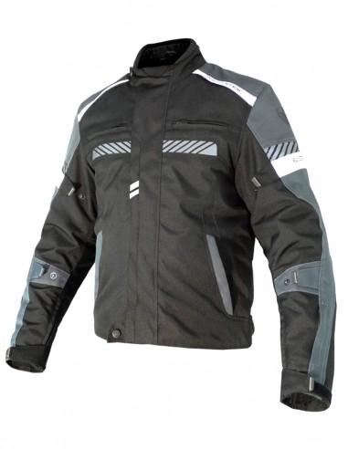 Chaqueta moto Invierno LINK Negra/Gris/Blanca