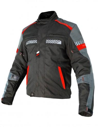 Chaqueta moto Invierno LINK Negra/Gris/Roja
