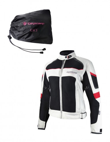 PACK Chaqueta verano mujer 3D AIR Gris + membrana Dry-B