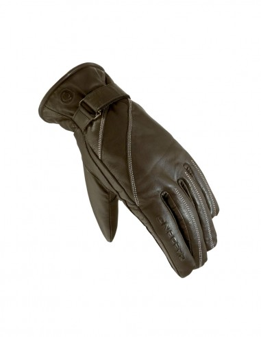 Stylish Brown Lady leather gloves