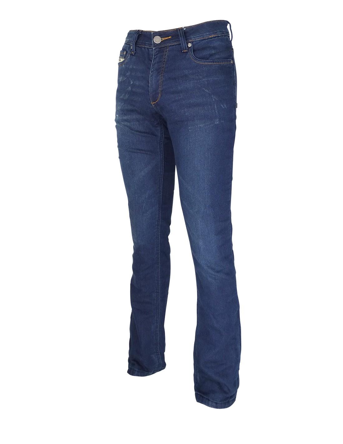 Pantalon Tejano De Moto Con Kevlar Para Hombre On Board Base Azul