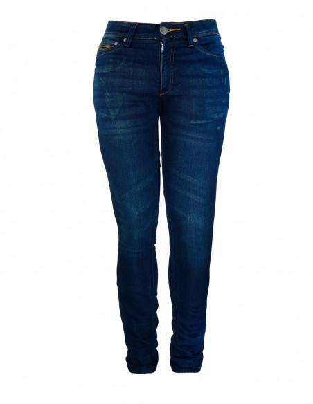 Pantalon mujer tejano kevlar CHIC - 02 azul