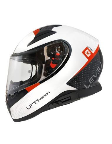 LEVEL helmet LFT1 VISION D.Visor Black / White / Red