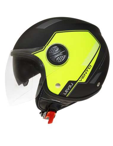 LEVEL helmets Ljc Vento D.Visor Matt Black / Fluor