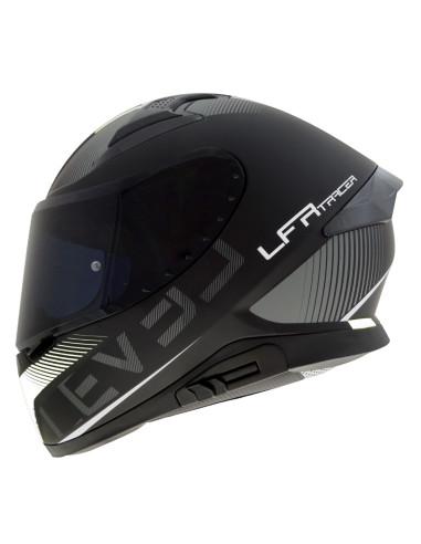 LEVEL helmet LFR TRACER D.Visor Matt Black / White