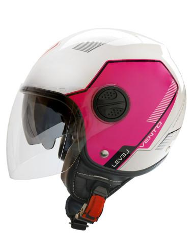 LEVEL helmets Ljc Vento D.Visor White / Pink